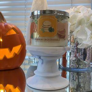New Pumpkin snickerdoodle 3 wick candle BBW